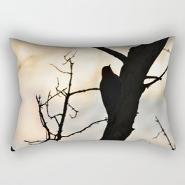Bird watching Sunset Rectangular Pillow
