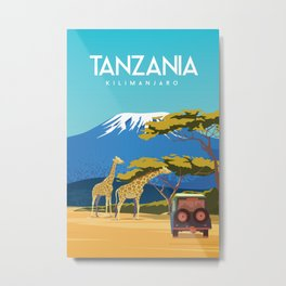 Tanzania travel poster Metal Print