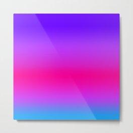 Neon Pink Purple Blue Metal Print
