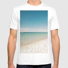 Seaside Manitou Island MEDIUM White Mens Fitted Tee