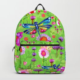 Tropical Dragonfly Garden Backpack