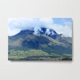 Clouds Over Mount Imbabura Metal Print