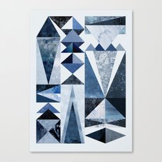 Blue Shapes Canvas Print