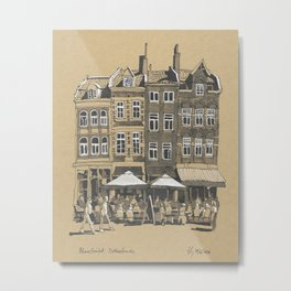A Slice of Townhouses in Maastricht, The Netherlands Metal Print