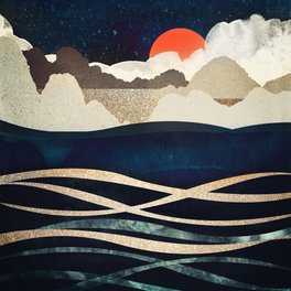 Bath Mat - Midnight Beach - SpaceFrogDesigns