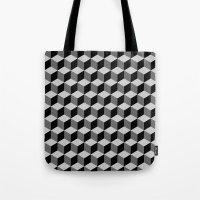 escher Tote Bags featuring Escher by Adikt