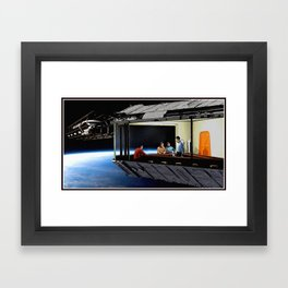 Original Series Inspired Nighthawks Framed Art Print