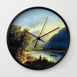 Mountain Lake 1852 By Lev Lagorio | Reproduction | Russian Romanticism Painter Wall Clock