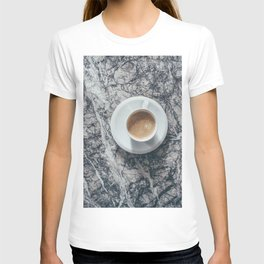 Coffee on Marble Background T-shirt