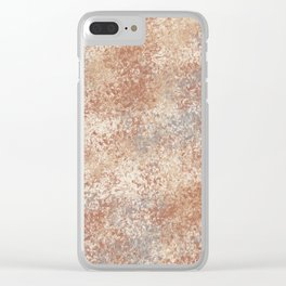 Cavern Clay SW 7701 and Abstract Distressed Chaotic Sponge Paint Pattern 2 Clear iPhone Case