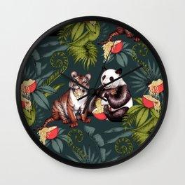 Exotic Noodle Jungle  Wall Clock