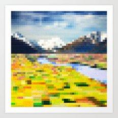 Pixel Landscape Art Print