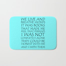 We Live And Breathe Words Bath Mat