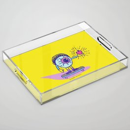 Apple of my Eye Idiom with Yellow Background Acrylic Tray
