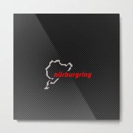 Nürburgring Carbon Metal Print