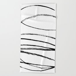 My mind is a mess. Beach Towel