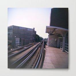 Damen Blue Line Metal Print