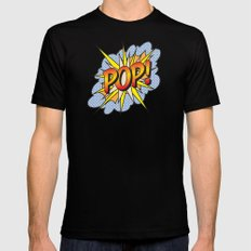 POP Art Exclamation Mens Fitted Tee LARGE Black