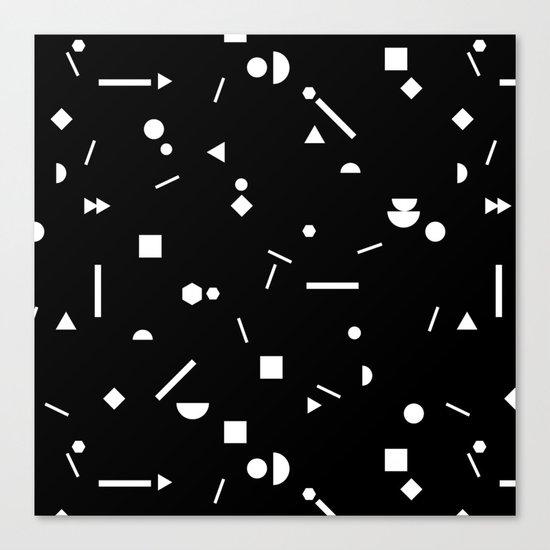 My Favorite Pattern 3 black Canvas Print