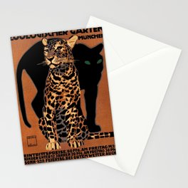 Vintage Munich Zoo Leopard 1912 Advertisement Stationery Cards