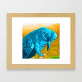 Painted Manatee artwork Framed Art Print