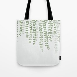 Pastel Green Botanical Watercolor Tote Bag