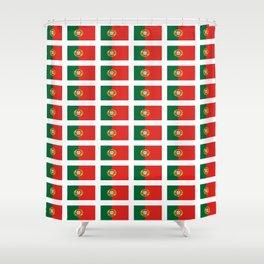 flag of portugal 2 -Portuguese,mirandese,Portugués,lisbon,porto. Shower Curtain