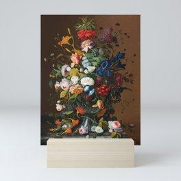 Flower Still Life with Bird's Nest, 1853 Mini Art Print