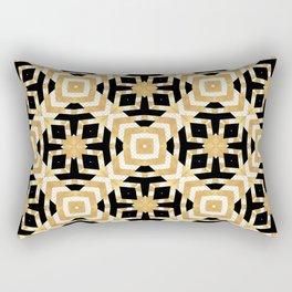 Gold Foil Art Deco Geometric Rectangular Pillow