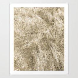 Califonia Toning Print: Cream Grass (Duotone) Art Print