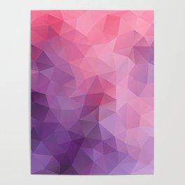 """""""Fruit ice cream"""" geometric design Poster"""