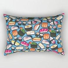Sushi Blue Rectangular Pillow