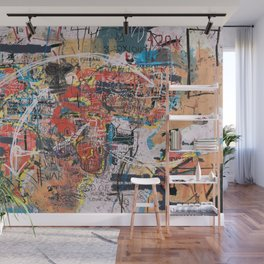 World Mapsqiuat Wall Mural