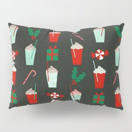 Holiday drinks peppermint mocha latte coffee seasonal sweet dessert treats Pillow Sham