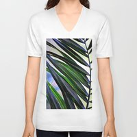 palm V-neck T-shirts featuring palm by  Agostino Lo Coco