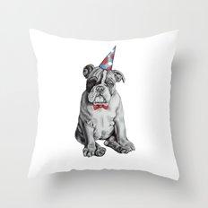 Party Dog Throw Pillow