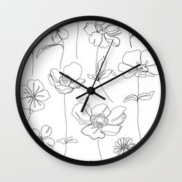 Botanical illustration drawing - Botanicals White Wall Clock