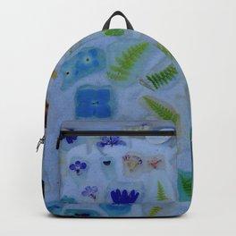 Flowers on Beach Glass 3 Backpack