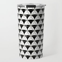 Cone Pattern Black-White Travel Mug