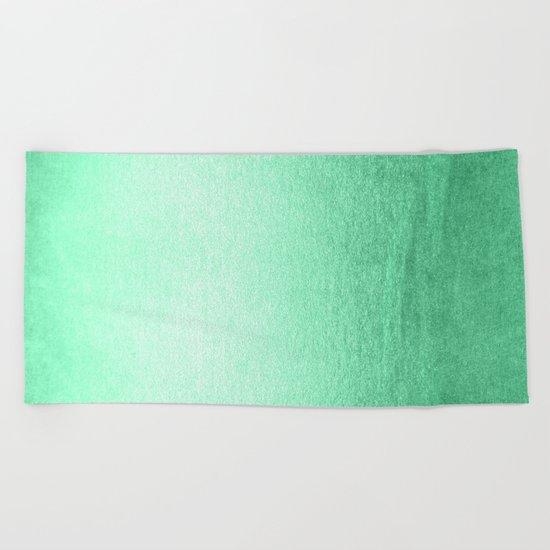 Mint Meringue Shimmer Beach Towel