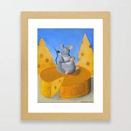 Cheese Rat Framed Art Print
