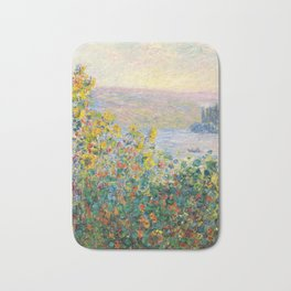 Flower Beds at Vétheuil by Claude Monet 1881 Bath Mat