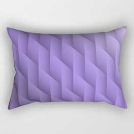Gradient Purple Diamonds Geometric Shapes Rectangular Pillow