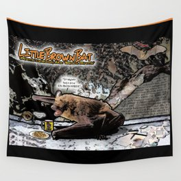 Little Brown Bat: Air-raging Honkers Wall Tapestry
