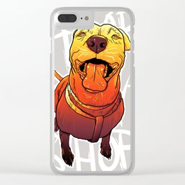 ADOPT DON'T SHOP Clear iPhone Case