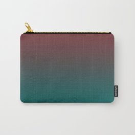 Ombre Quetzal Green Dark Red Pear Gradient Pattern Carry-All Pouch