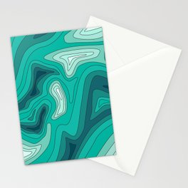 ocean dephts map Stationery Cards