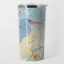 Very Blue Great Blue Heron Travel Mug