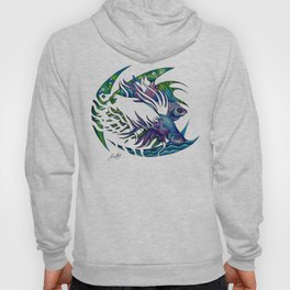 Siamese fighting fish themed artwork Hoody