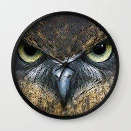 Southern Boobook Owl Wall Clock